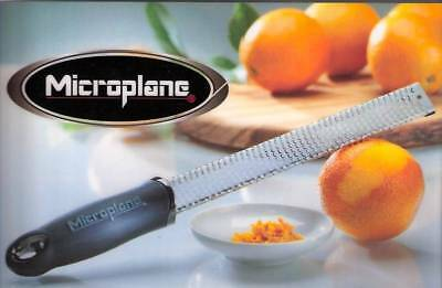 New Microplane 40020 Classic Fine Zester Grater Black Plastic Handle  Free Cover