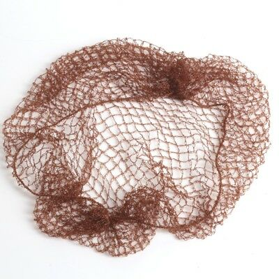 FINE BROWN STRETCHY SLEEP-IN SLUMBER HAIR NET Buns Dance Equestrian Mesh Cover