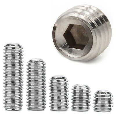 A2 STEEL GRUB SCREWS M2-M6 Small Guitar Bridge Saddle Height Adjuster Hex Socket