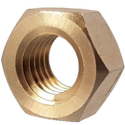 SOLID BRASS FULL NUTS Hex Metric Thread M2 M2.5 M3 M3.5 M4 M5 M6 M8 M10 M12