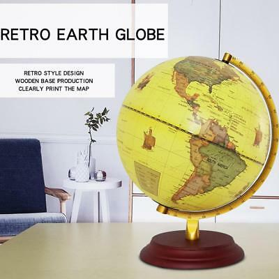 New montessori geography materials flag stand world map 36 23cm retro yellow rotating world map earth globe geography educational toy gumiabroncs Gallery