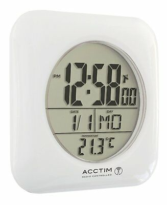Acctim Fusion Radio Controlled MSF signal Water Resistant Bathroom Digital Clock