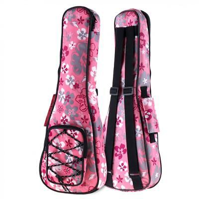 21 Inch Colorful Ukulele Bag 10mm Cotton Soft Case Gig Ukelele Guitar Backpack