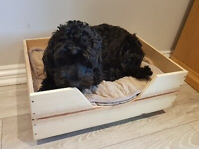 French wooden reclaimed wine box PET BED for small dogs & cats