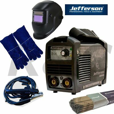 Jefferson Tools 140A DC Inverter Arc Welder Kit High Duty Cycle 230v 13amp Plug