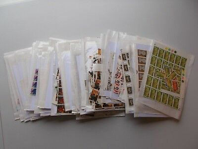 1960s Great Britain Commemoratives. Large accumulation in packets. 1000s stamps.