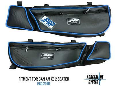 Can Am Maverick X3 XRC PRP door bag bags BLUE Set of 2 #E60-210B