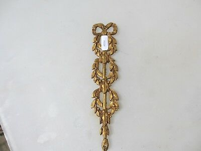 Antique Brass Ormolu Hardware Mount Leaf Leaves Fruit Victorian Bow Wreath Old