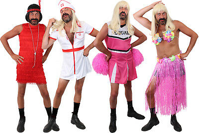 Stag Do Fancy Dress Mens Cheerleader Funny Costume Adults Novelty Stag Night