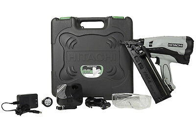 "Hitachi NT65GAPR 3.6V 15-Gauge 2-1/2"" Cordless Li-Ion Angle Finish Nailer Kit"