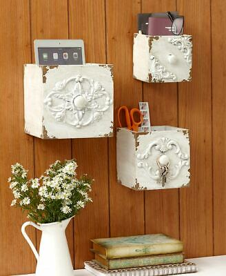 The Lakeside Collection Set of 3 Vintage-Inspired Wall Boxes -