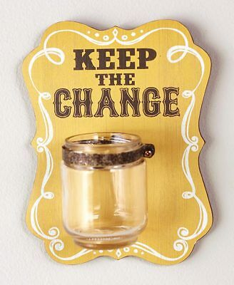 The Lakeside Collection Keep the Change jar Wall Hanging