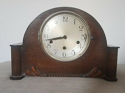 German Art Deco Haller Multi Chime Mantle Clock Westminster Whittington Working
