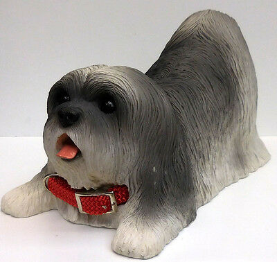 Lhasa Apso, Gray Figurine, Conversation Concepts, Item Daf10A