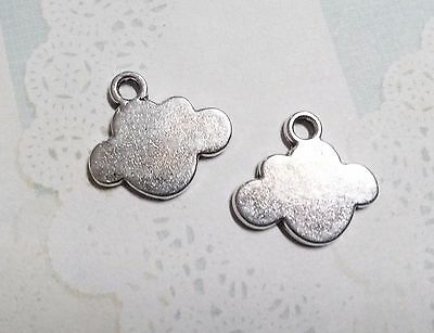 4 CLOUD CHARMS Metal Stamping Blanks Jewelry Supplies