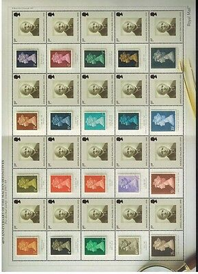 LS40  40th ANNIVERSARY  ARNOLD MACHIN  2007 GENERIC SMILERS FULL  SHEET