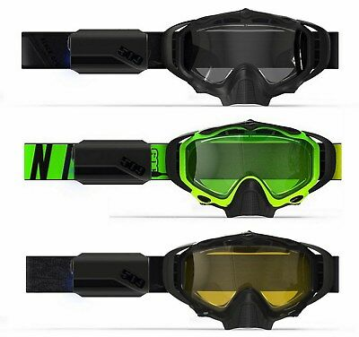 509 Sinister X5 Ignite Black Ops, Hi-Vis Lime, Black w/Yell Heated Lens Goggles