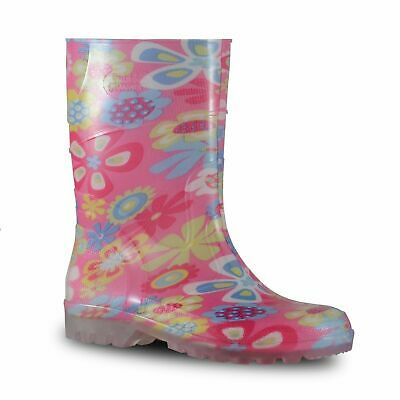 Childrens Gumboots Bata Bubblegummers Kids Gumboot Hi-cut Flower Print Size 4-2