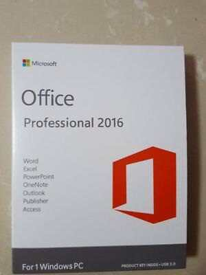 Genuine Microsoft Office 2016 Pro Professional 32/64Bit Full Version + Key