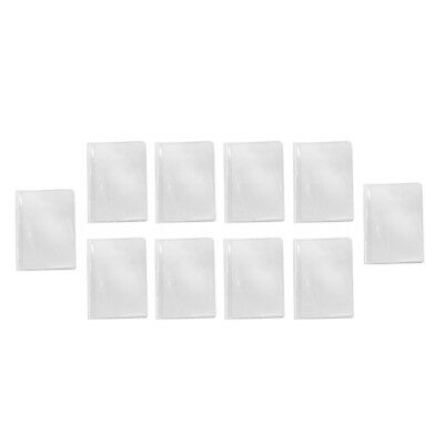 10x Waterproof Plastic Passport Cover Card Organizer Protector Case Clear