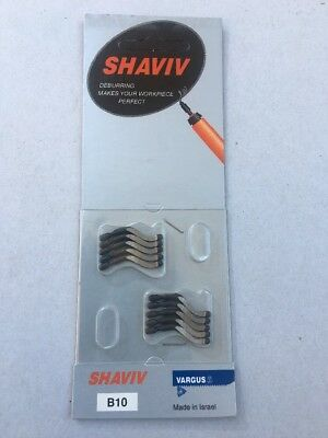 10pcs - Shaviv B10 High Speed Steel Deburring Replacement Blades EDP #29012