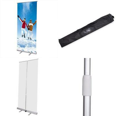 Economy 32x79 Adjustable Height Retractable Roll up Banner Stand Trade Show Tele