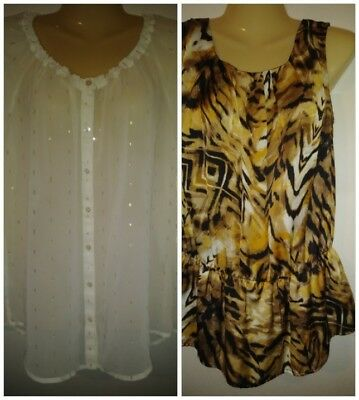 Womens Size M Top Lot of 2 Liz Claiborne Notations Lightweight Dressy Career