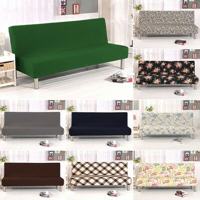Phenomenal Armless Sofa Cover Chair Bedspread Settee Bed Elastic Bralicious Painted Fabric Chair Ideas Braliciousco