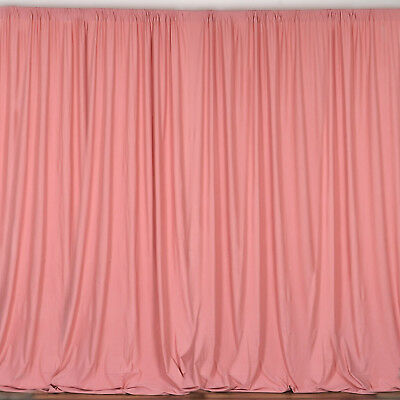 ROSE QUARTZ PINK 10 x 10 ft Polyester BACKDROP CURTAINS Drapes Panels Home Party