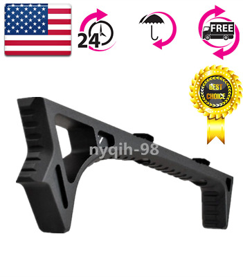 US M-LOK LINK Curved Angled Fore Grip Fits Rails-Black Handguards Rail Width:0.6