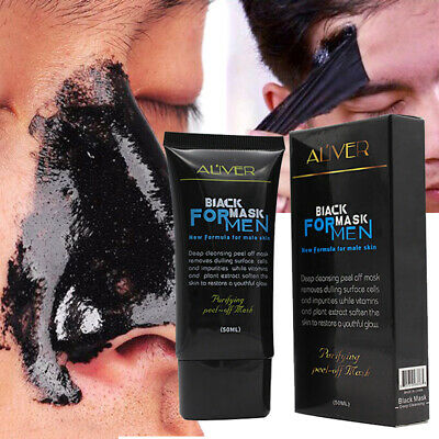 Blackhead Remover Deep Cleansing Purifying Peel Off Black Mud Acne Face Mask Men