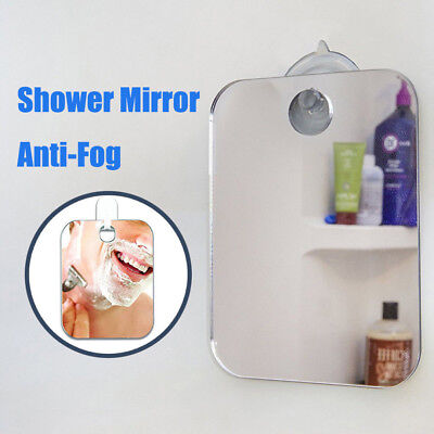 No Fog Shaving Fogless Anti Fog Shower Mirror Bathroom Suction Cup Mount