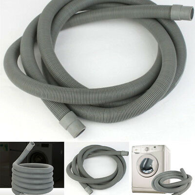 Flexible Washing Machine Dishwasher Drain PE Waste Hose Extension Pipe Kit 1.5M