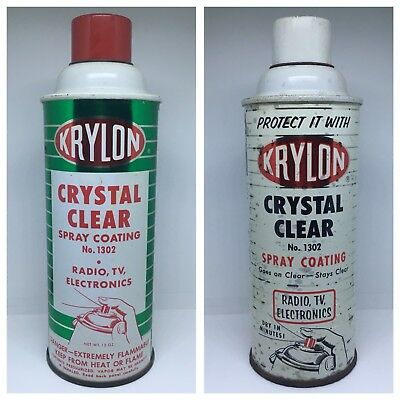Antique/Vintage 1960's Krylon Spray Paint Canisters - Crystal Clear