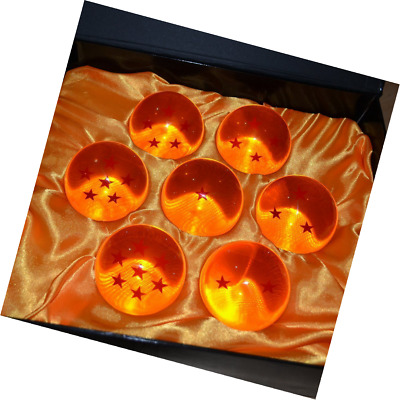 New DragonBall Z Stars Crystal Glass Ball 7pcs with Gift Box, LARGE 76MM in diam