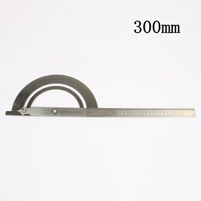 Stainless Steel 180 degree Protractor Angle Finder Rotary 300mm Measuring Ruler