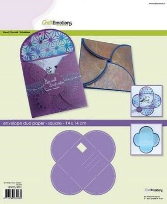 Craft Emotions A4 Stampo - Busta Duo Carta - Rettangolo #4502 16cm x 11cm