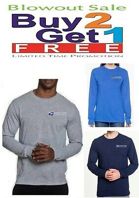 USPS Postal Post Office DriPower Long Sleeve Polyester Tee Tshirt by PCA Etc