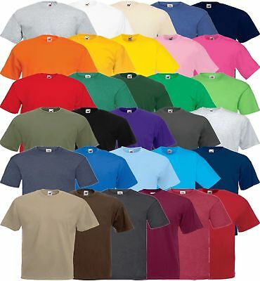 Fruit Of The Loom 5/10 Pack  Plain Random Mixed Colours T-Shirts Unisex Bargain!