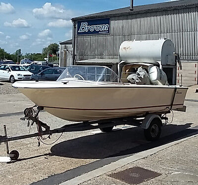 Broom Saturn Speedboat with 40HP Honda Outboard and new upholstery