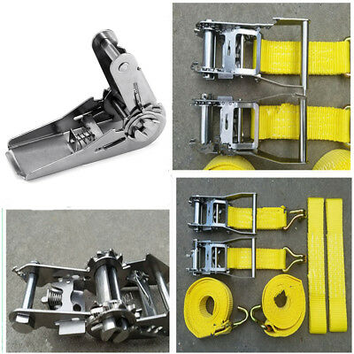 Silver Tone Stainless Steel Ratchet Buckle for 25mm Width Tie Down Strap