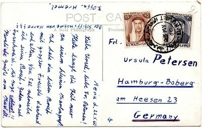 PK Australia postcard Geelong view from Kuwait to Germany 1960