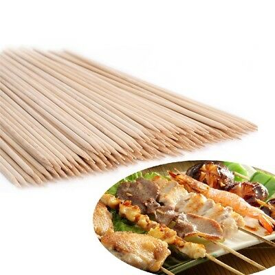 25cm 150 Bamboo Skewers Sticks BBQ Barbecue Party Grill Kebab Shish Fruit Wooden
