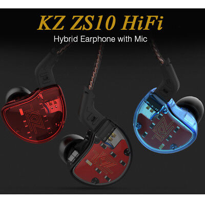 KZ ZS10 Dynamic Driver HiFi Hybrid In-Ear Sports Earphone Wired Earbuds with Mic