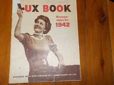 Lux Book - Knitwear Styles For 1942 - Lux Product