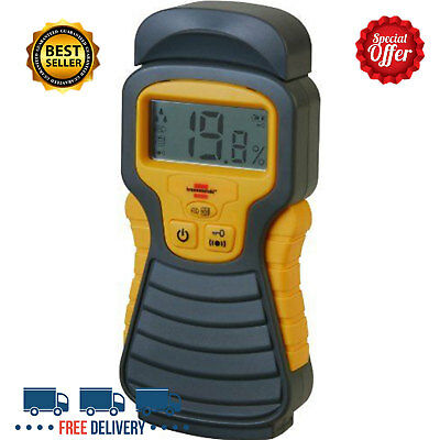 Digital Moisture Meter Damp Detector Brick Concrete Wood Wall