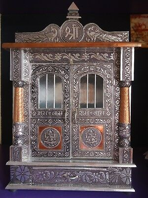 "TEMPLE / HOME TEMPLE / OXIDIZED COPPER TEMPLE / POOJA MANDIR / MANDAPAM 7"" x 15"""