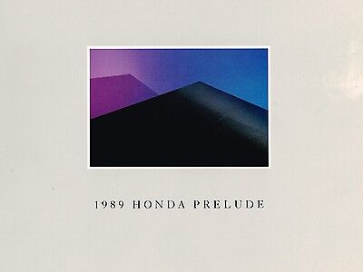 1989 Honda PRELUDE Sales Brochure / Catalog with Spec's: S, Si