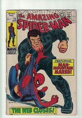 MARVEL COMIC  The Amazing Spider-man No 73 June 1969