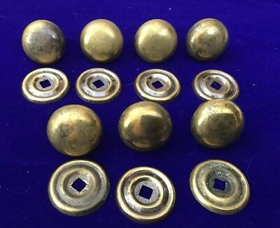 Vintage Antique Brass 30mm Victorian Small DOOR KNOB handle set With Back Plates